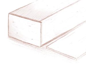 Een illustratie van een grafkist die wordt gebouwd