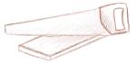 Een zaag met een plankje